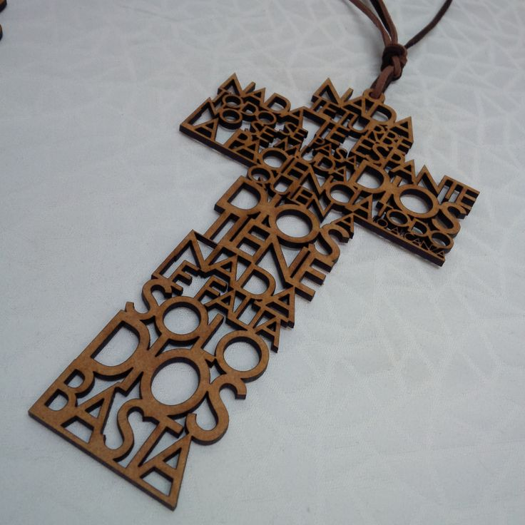 LASER CUT CROSS Nada te turbe español spanish prayer wall hanging cross cruz para cuna recuerdo de bodas comunion funeral