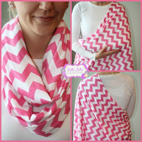 "Nursing scarf... Infinity mom Scarf... Super cute... Could totally make this. A no sew version..... 60"" circumference about 30"" length... One/2yds fabric... About $18/scarf"