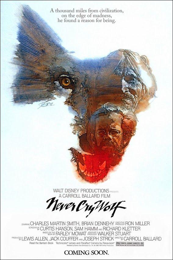 "Walt Disney's ""Never Cry Wolf"" (1983) Stars: Charles Martin Smith, Brian Dennehy, Zachary Ittimangnaq ~ Director: Carroll Ballard (Nominated for an Oscar for Best Sound)"
