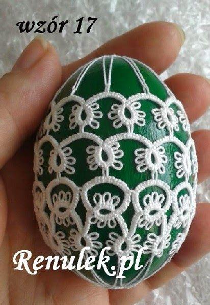 Frywolitki, Tatting, Chiacchierino: to już chyba ostatnie jajko przed tymi świętami