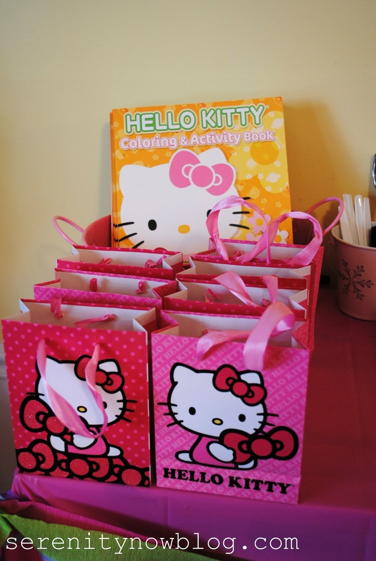 Hello kitty birthday color book - Serenity Now Hello Kitty Birthday Party Party At Home