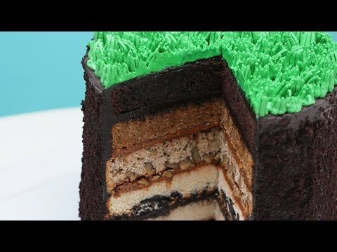 This Sediment Layer Earth Cake is educational & yummy!   Organic Layer: Chocolate Cake  Top Soil Layer: Carrot Cake Subsoil Layer: Walnut Cake Parent Material Layer: Oreo Cookie Cake Bedrock Layer: Vanilla Cake