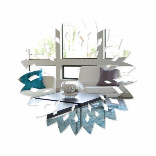 Akrylové zrkadlo vo vzore kvetu