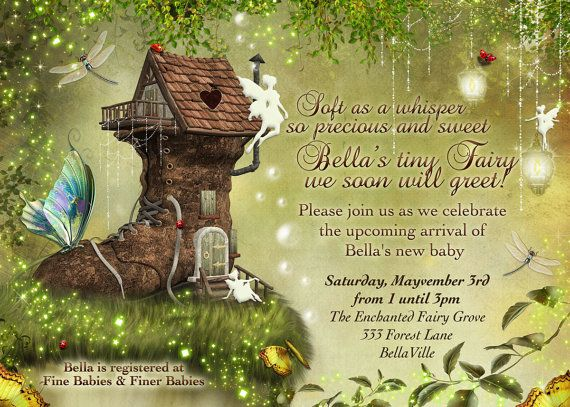 Fairy Baby Shower Invitation, Fairy Party, Fairy Invitations, Fairytale Invitations