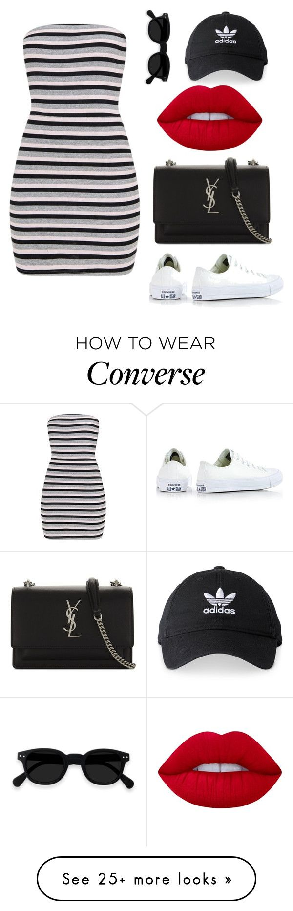 """""""So sexy"""" by grace-ooi on Polyvore featuring Converse, Yves Saint Laurent, adidas and Lime Crime"""