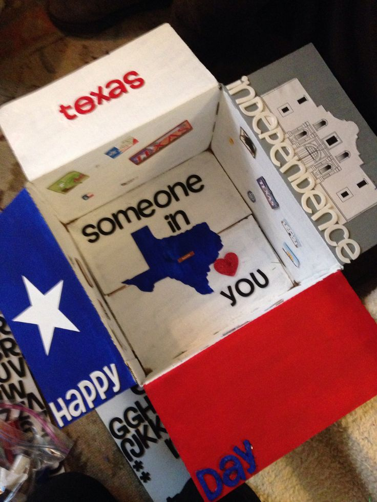 Texas Independence Day Care package.