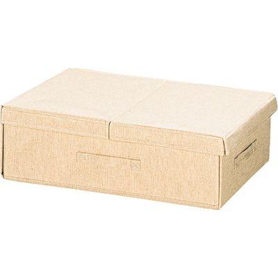 ポリエステル綿麻混布貼りベッド下収納ボックス