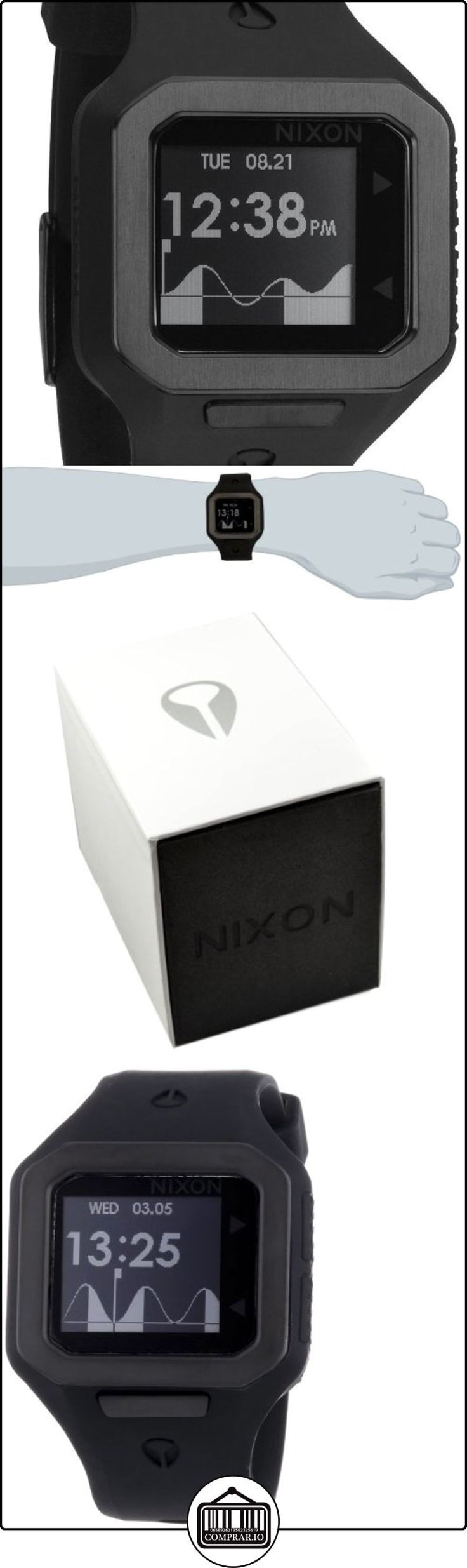 Nixon A316001-00 - Reloj digital de cuarzo para hombre con correa de silicona, color negro  ✿ Relojes para hombre - (Gama media/alta) ✿