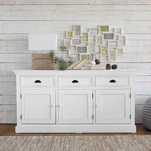 White 3 door buffet newport hallway pinterest for Sideboard 140