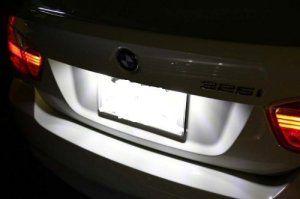 SLPRO Éclairage LED pour plaque minéralogique non soumis à la certification TÜV pour Audi A3 8P – A4 B6 + B7 – A6 4F avec LED SMD 5050…