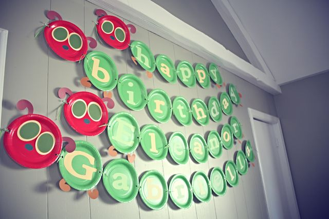 """Photo 1 of 21: The Very Hungry Caterpillar, by Eric Carle / Birthday """"Elle and Gabby 1st Birthday"""" 