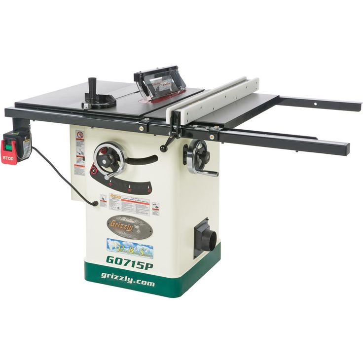 """Got it! G0715P 10"""" Hybrid Table Saw with Riving Knife, Polar Bear Series®"""