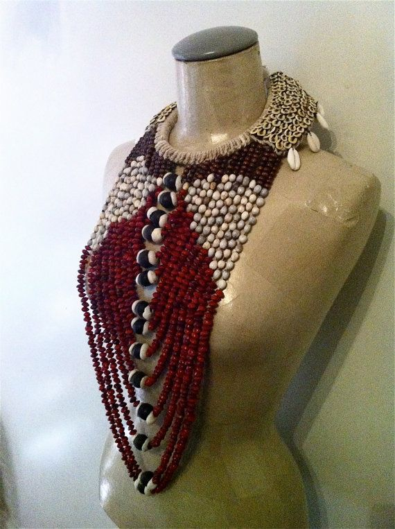 Statement jewelry from Papa new guinea by VoodooLovesick on Etsy, kr2300.00