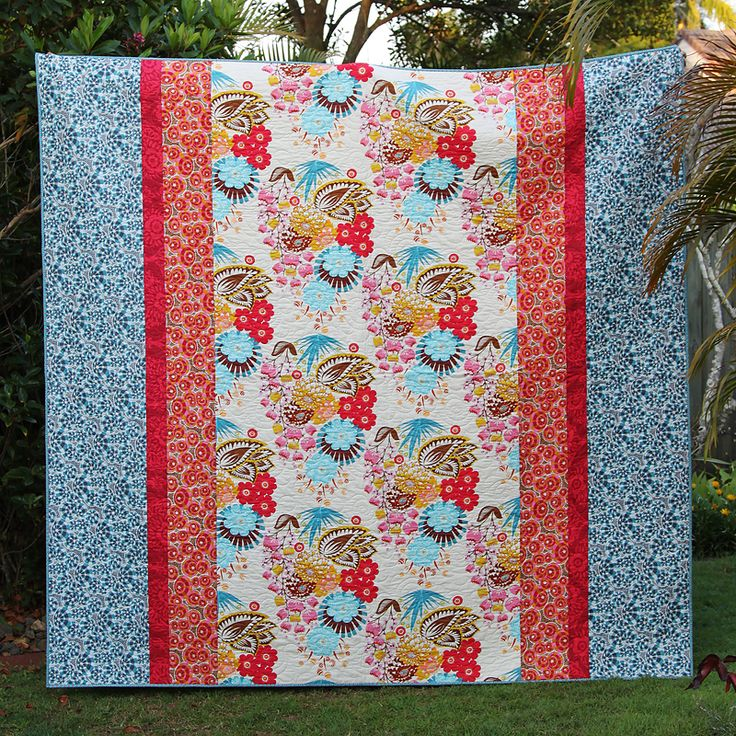Free Pattern download for this queen sized quilt at Bonjour Quilts