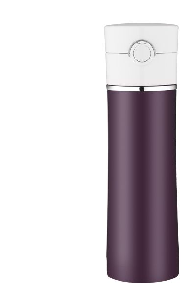 Plum Vacuum Insulated Drink Bottle by Thermos.  I love good design!  Beautiful and it keeps my tea hot all day!