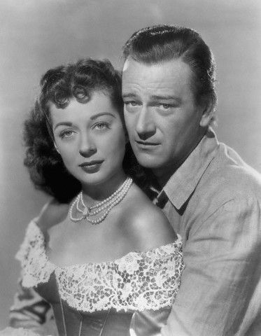 Gail Russell and John Wayne
