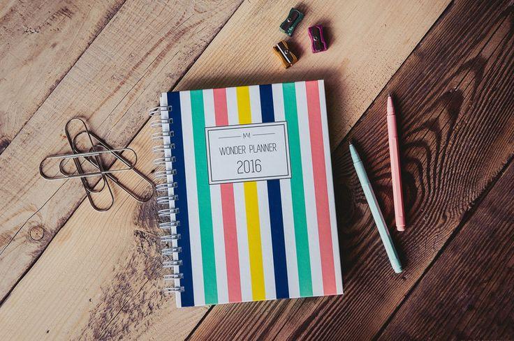 Wonder Planner Color Stripes 2016 kalendarz - wondermarket - Kalendarze tygodniowe