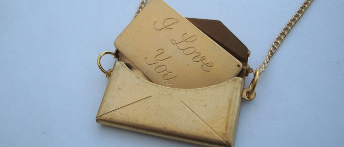 """Create Staff Picks: Valentine's Gifts - Create.net Blog - A touching piece - """"Vintage Brass 'I Love You' Envelope Necklace"""" by www.pirate-treasures.com - from our #Create #valentines #gift blog post!"""