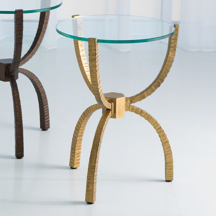 Hand Forged Iron Accent Table. Available In Antique Bronze And Gold  Finishes. Item