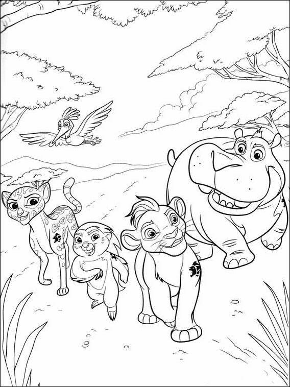Coloriage La Garde Du Roi Lion 11 Coloriage Le Roi Lion