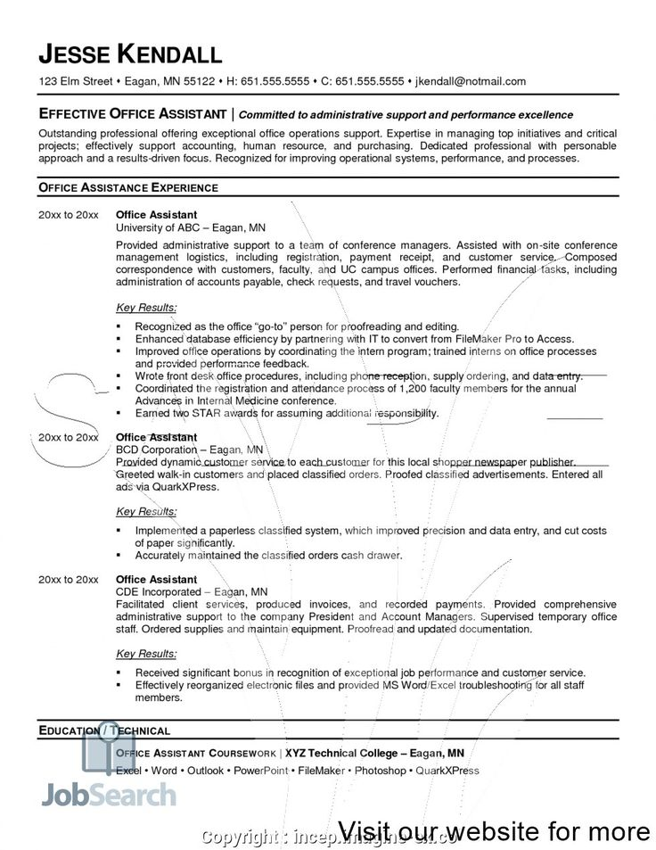 Office Administrator Resume Sample 2020 office
