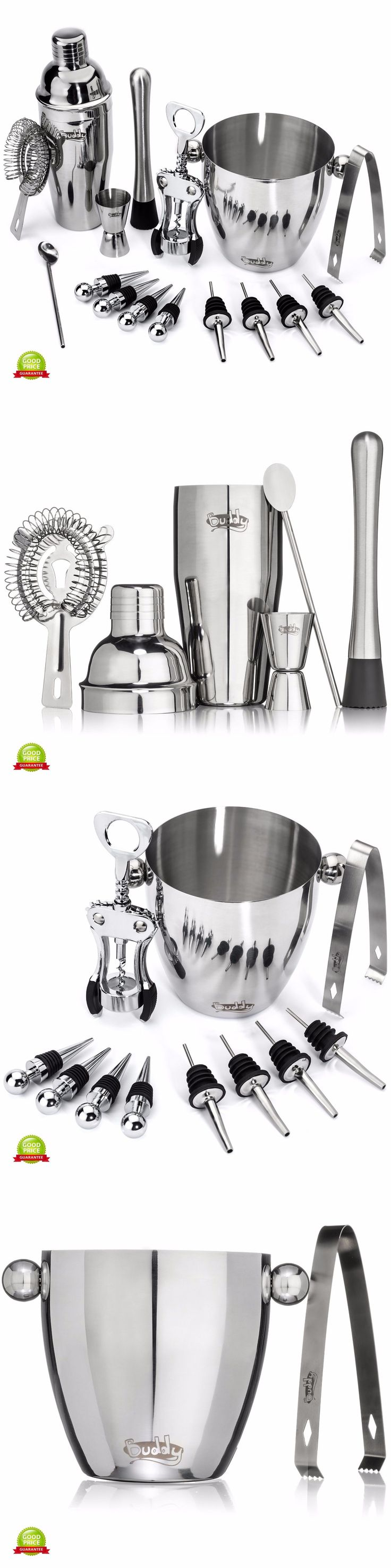 Cocktail Shakers and Bar Sets 63504: Bartender Set Stainless Steel Barware Tools Cocktail Shaker Kit Ice Bucket Bar -> BUY IT NOW ONLY: $63.97 on eBay!