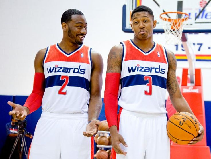 John Wall and Bradley Beal - c'mon Brad, I'll teach you how to dougie! :D