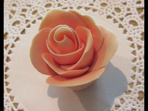 ▶ How To Make Fondant Roses Without Any Tools - YouTube