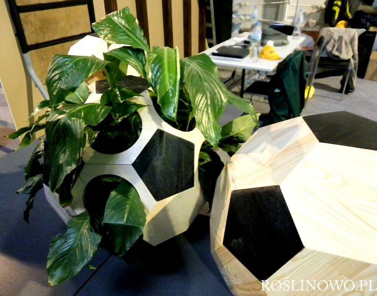 Drewniana konstrukcja służaca jako ozdoba dla roślin pokojowych