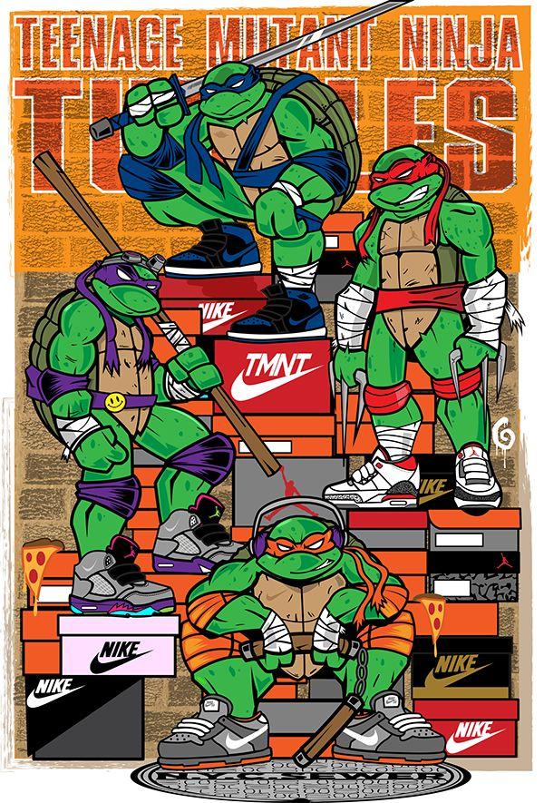 Teenage Mutant Ninja Sneakerheads on Behance