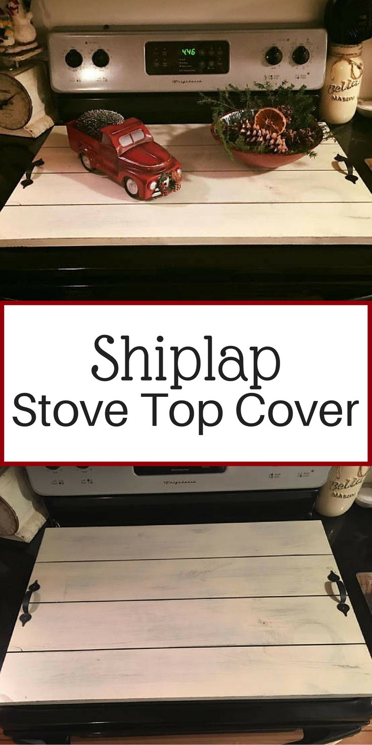 Stove Top Cover, Noodle Board, Shiplap, Farmhouse Decor, Fixer Upper Style, Home Decor, Kitchen Decor, Tray, fixer upper decor, gift for him/her Only $35.00