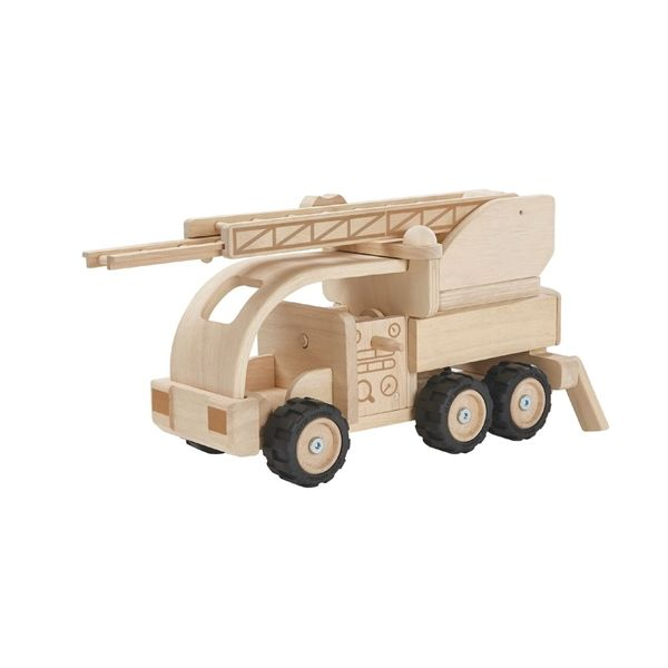 Wooden Fire Truck Toy Natural Wood Fire Trucks Toy Fire Trucks Plan Toys