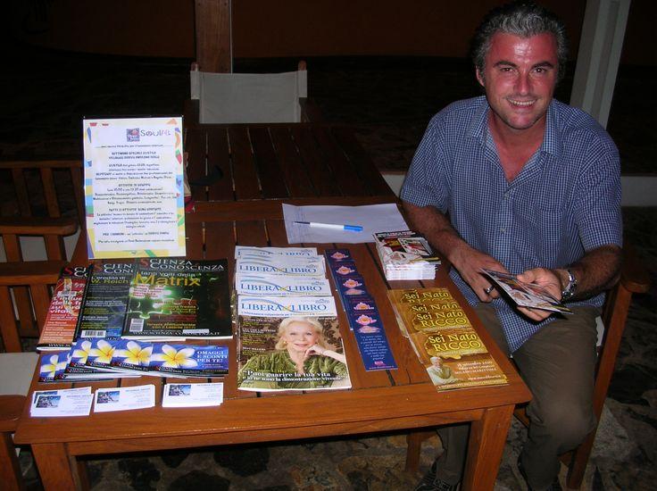 """Our Partner - """"Macro Edizioni"""" publishing house, """"Il Consapevole"""" magazine , """" Scienza e Conoscenza """" magazine - in the photo there is Emiliano."""