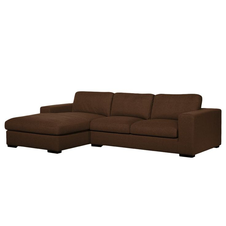 Ecksofa Boston (mit Schlaffunktion) Webstoff   Longchair/Ottomane  Davorstehend Links   Stoff Valura Braun Jetzt Bestellen Unter: ...