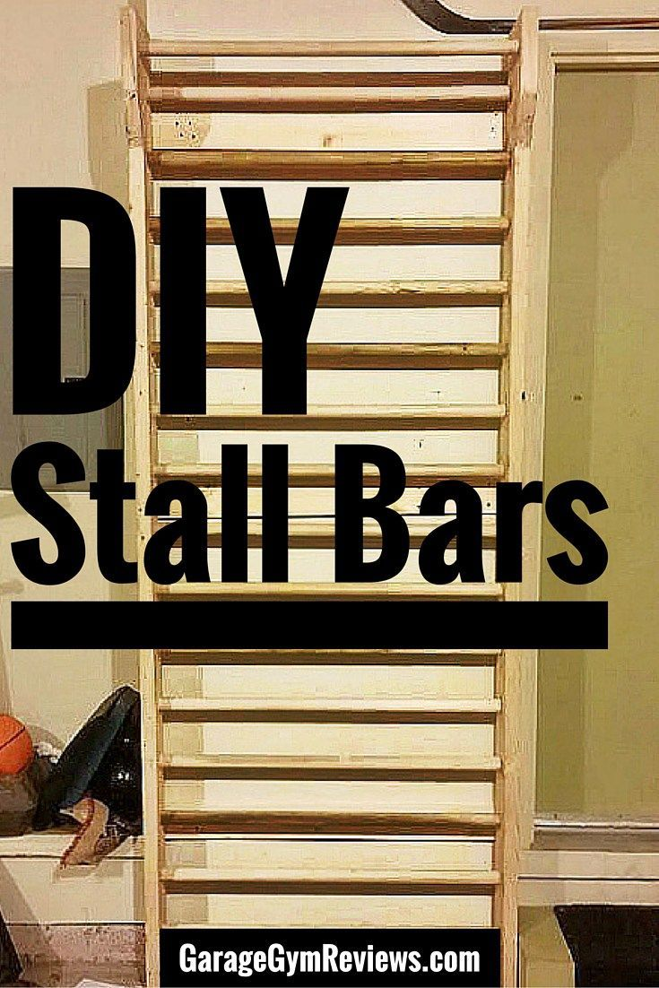 Build your own DIY Stall Bars for stretching, mobility, pull-ups, gymnastics, and more!  Free plans here!