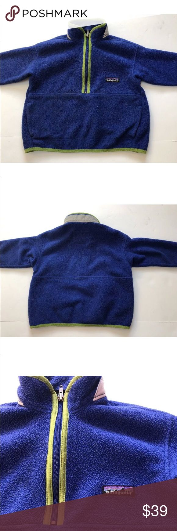 Patagonia kids synchilla fleece jacket size 3-4 Patagonia blue kids synchilla pullover fleece jacket size 3-4 XXS Patagonia Jackets & Coats
