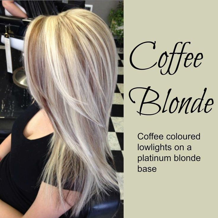 Hair style - coffee blonde