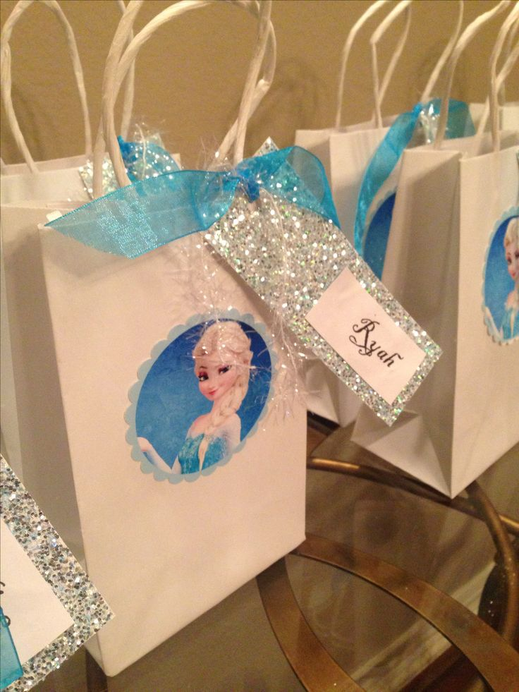 Frozen party  Elsa goody bags