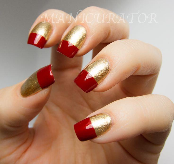 Simple Nail Art With 2 Colors