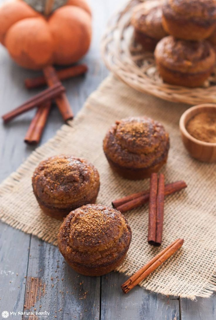 Gluten Free Pumpkin Muffins - These are dairy free, grain free and fat free!