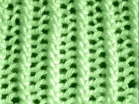 Como Tejer Punto Vainilla-Sea Foam Stitch (107) - YouTube