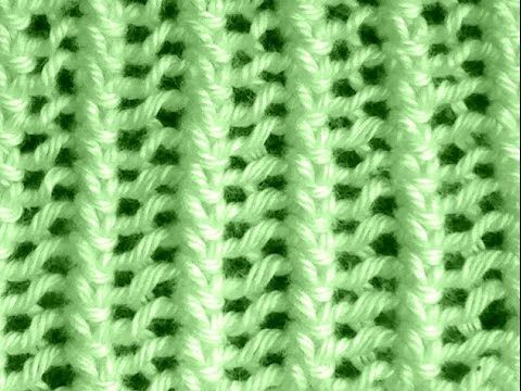 Como Tejer Punto Encaje Francés-French Lace Knitting 2 Agujas(108) - YouTube