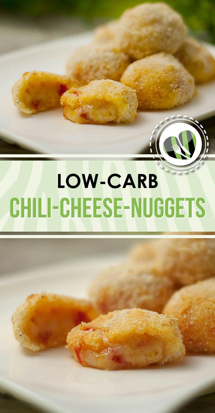 Die Chili-Cheese-Nuggets sind low-carb und richtig lecker.