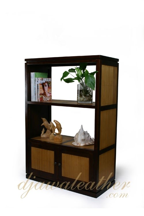 Bennetta Bamboo Bookcase with 2 Shelves. No one realize that bamboo can be so beautiful as this one.