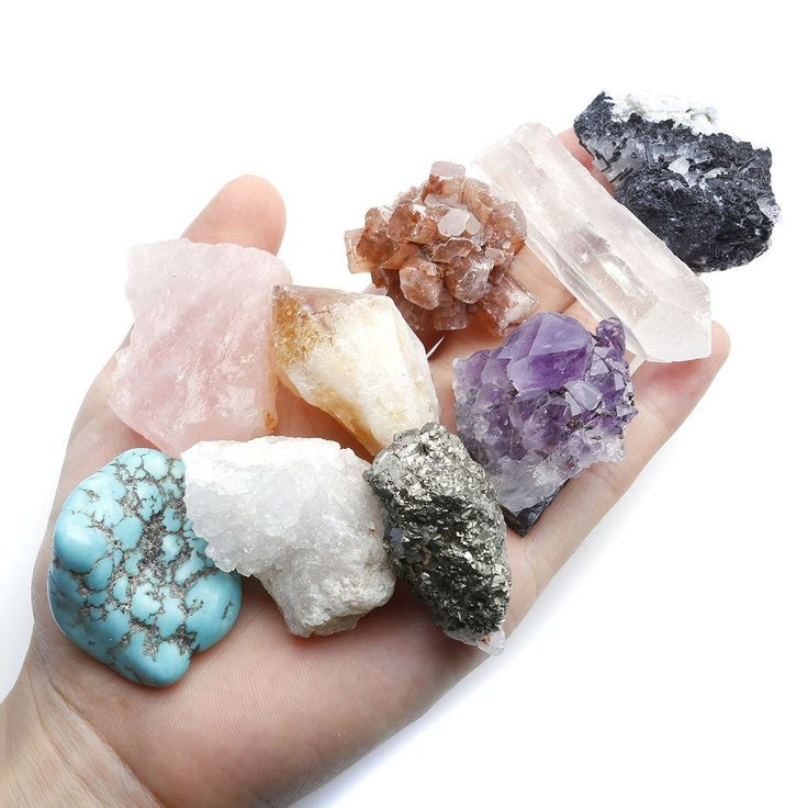 Amazon.com: Top Plaza Mineral Rock Variety Tumbled Rough Gemstone Meteorite Fragment Healing Energy Crystal Collection Box (20 pcs Rough Mini Stones Kit): Home & Kitchen