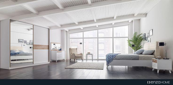 Beyazın sadeliğini ve ahşabın sıcaklığını bir araya getiren Polka Yatak Odası, geniş depolama alanları ve farklı modül alternatifleri sunuyor.