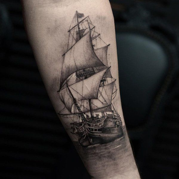 Boat tattoo - 100 Boat Tattoo Designs