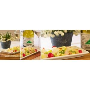 Scallop Ceviche with tomato, avocado, baby radish and chervil salsa with Cape of Good Hope Altima Sauvignon Blanc