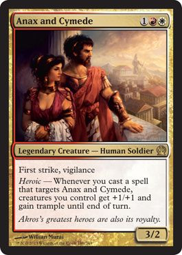 Magic The Gathering Theros: Anax and Cymede Card Kingdom [for the red/white heroic deck]