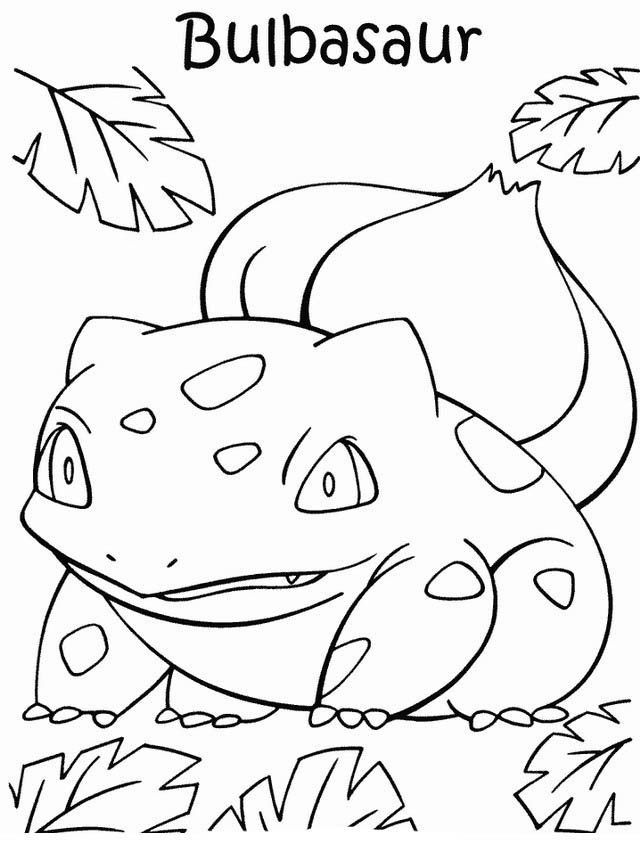 Bulbasaur Pokemon Coloring Page In 2020